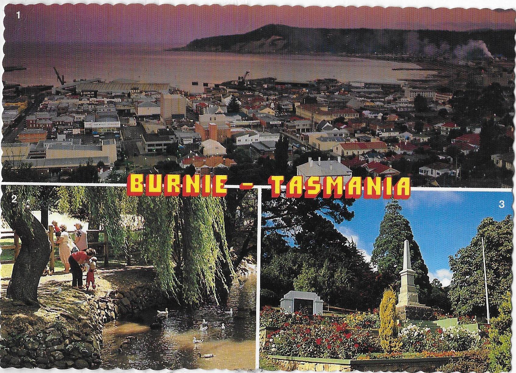 Burnie postcard 80s