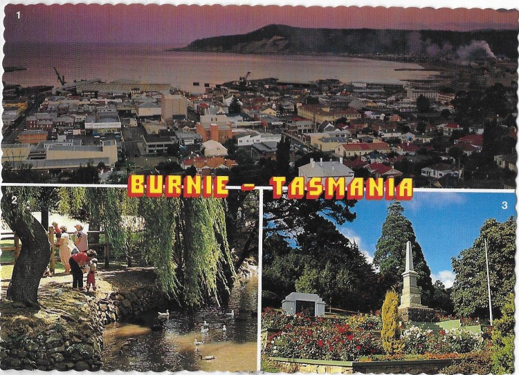 Burnie postcard 80s