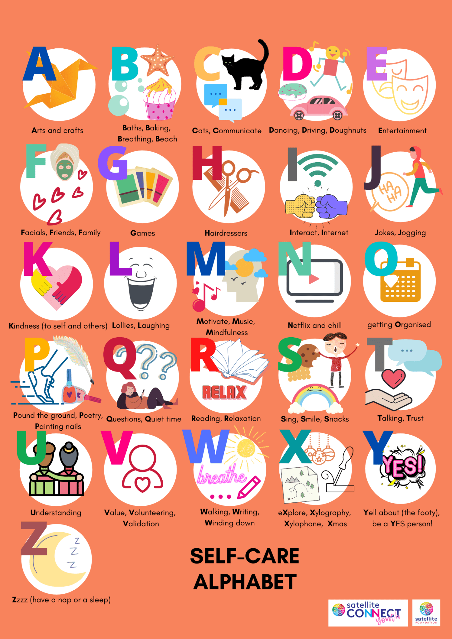 Self-care-alphabet